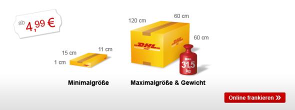 Unsere Preise für Ihren Versand - DHL