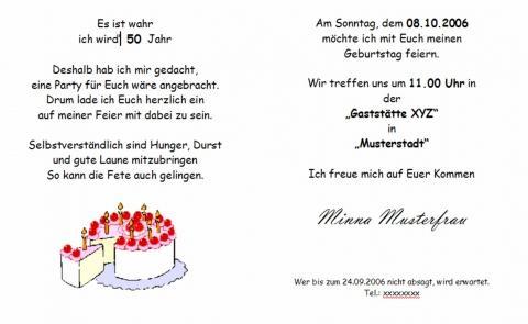 Geburtstagseinladungen mit Spruch (Geburtstag, Sprüche, Einladung)