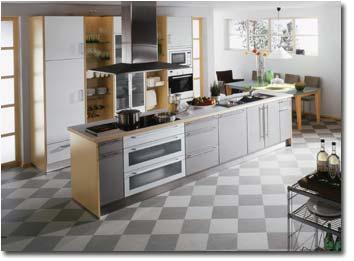 fliesen oder laminat in der k che planung. Black Bedroom Furniture Sets. Home Design Ideas