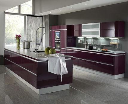 Welche farbe passt zu einer lila farbenen kuche for Küche lila