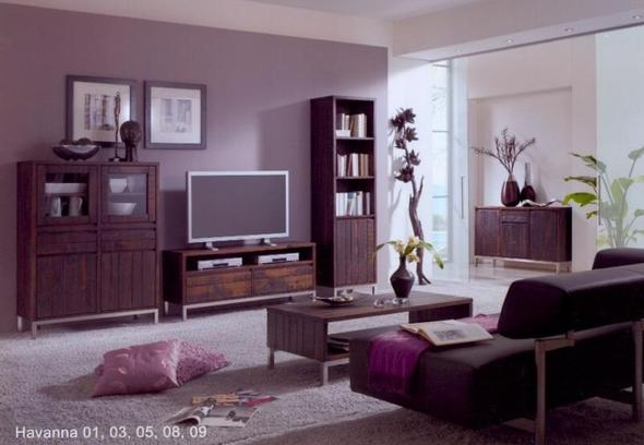lila mit braunen m beln. Black Bedroom Furniture Sets. Home Design Ideas