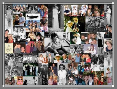 Fotogeschenk gesucht geschenk geburtstag foto - Collage auf leinwand basteln ...