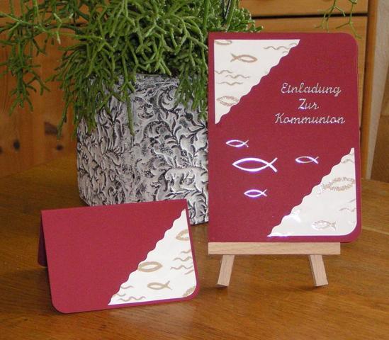 einladung konfirmation selbst basteln | katrinakaif, Einladung
