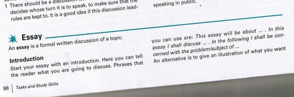 Essay schreiben englisch aufbau