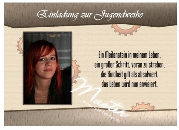 """... Jugendweihespruch mit """"Leben + Buch"""" (Freizeit, Sprüche, Jugendweihe"""
