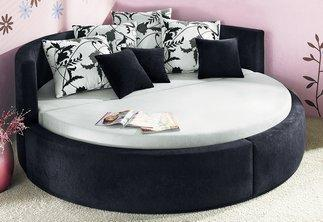 rundes bett m bel einebinsenweisheit. Black Bedroom Furniture Sets. Home Design Ideas