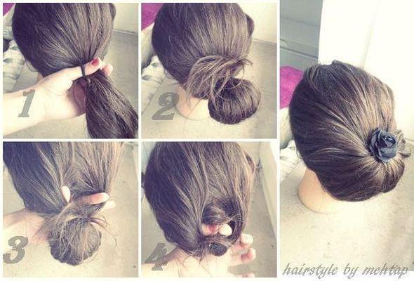 Прическа на каждый день своими руками для длинных волос фото