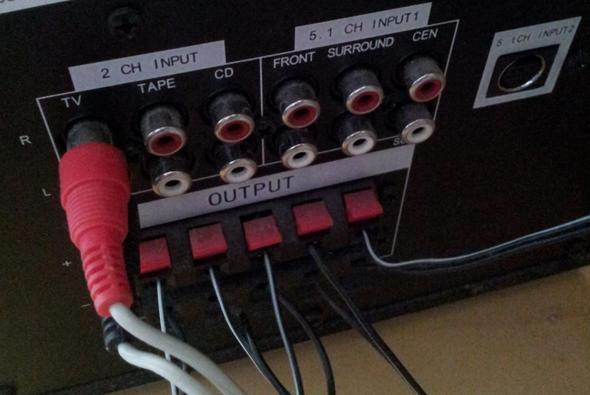 5 1 soundsystem an lg fernseher audio anschluss. Black Bedroom Furniture Sets. Home Design Ideas