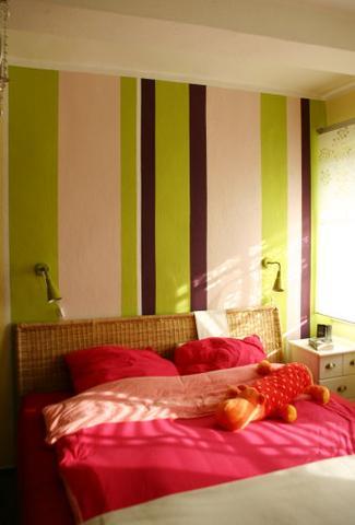 Wand Streichen Muster Schlafzimmer ~ Beste Inspirations ... Zimmer Streichen Ideen Schlafzimmer