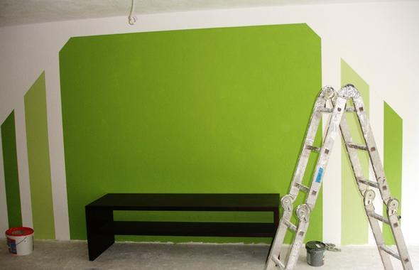 Wandfarben ideen mit streifen
