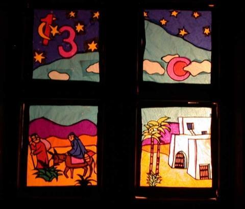 Suche ideen f r ein adventsfenster basteln - Adventsfenster gestalten ideen ...