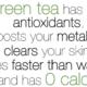Abnehmen mit grünem Tee -ist es egal welcher?