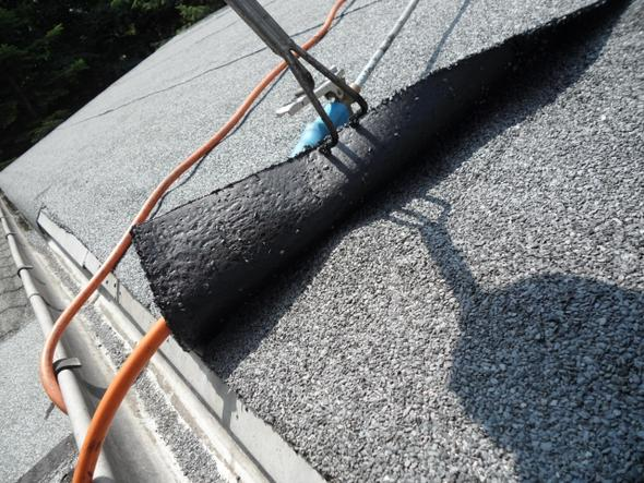 bitumen schwei bahn richtig verlegt facharbeit dach dachdecker. Black Bedroom Furniture Sets. Home Design Ideas