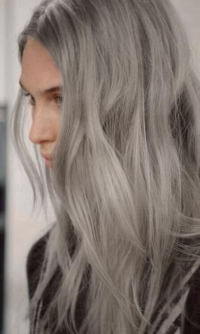 braune haare silber f rben ohne sie zu blondieren. Black Bedroom Furniture Sets. Home Design Ideas