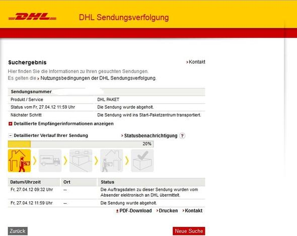 dhl paket h ngt deutsche post. Black Bedroom Furniture Sets. Home Design Ideas