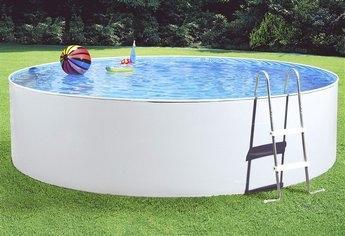 Eckige stahlwand pools freizeitzeit garten pool for Pool mit stahlwand