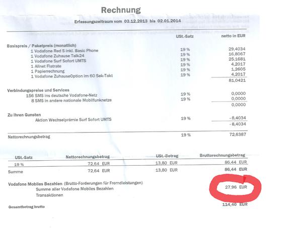 Rechnung Vodafone : hilfe vodafone rechnung woher kommt dieser betrag handyvertrag ~ Themetempest.com Abrechnung