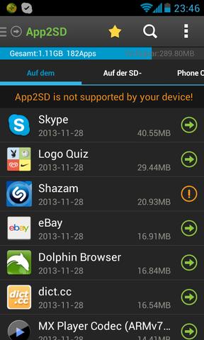 Huawei Ascend Y300 - Apps auf die SD-Karte verschieben