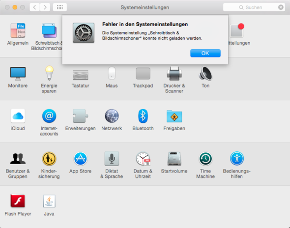 Ich kann mein hintergrundbild seit dem update auf mac os x for Schreibtisch yosemite