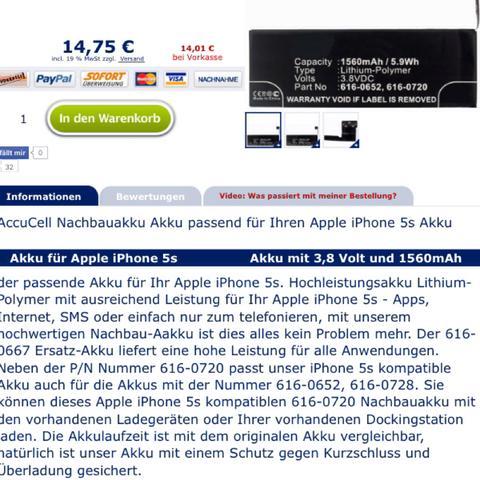 iphone 5s akku in iphone 5c iphone 5c akku akku austauschen besserer akku. Black Bedroom Furniture Sets. Home Design Ideas