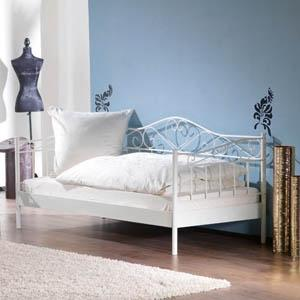 einzelbett wei metall. Black Bedroom Furniture Sets. Home Design Ideas