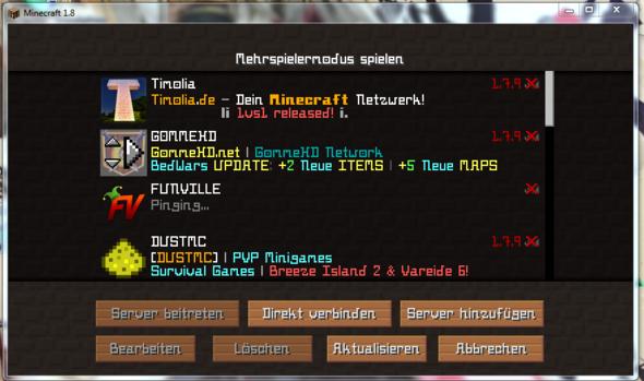 купить сервер minecraft 1.8