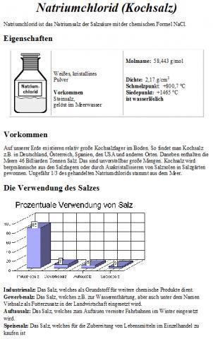 natriumchlorid steckbrief verwendung salze eigenschaften. Black Bedroom Furniture Sets. Home Design Ideas