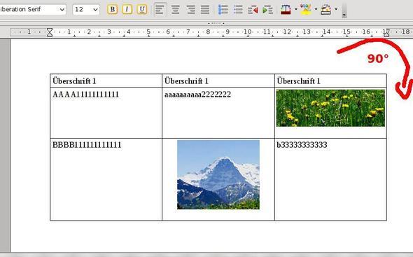 Openoffice word wie kann ich eine tabelle samt inhalt um for Tabelle open office