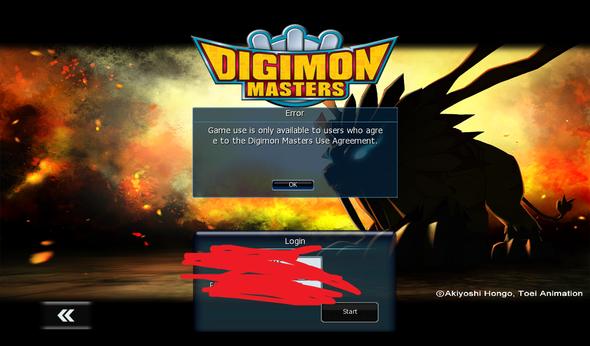 Problem bei Anmeldung von Digimon Masters Online