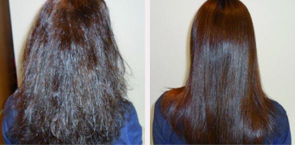 Das Vitamin je für das Haar der Spray