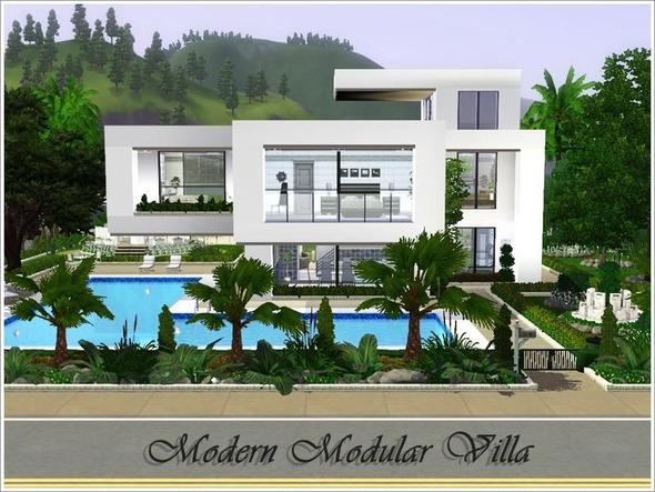 Sims 3 fenster berstand sims3 moderne villa for Modernes haus sims 3