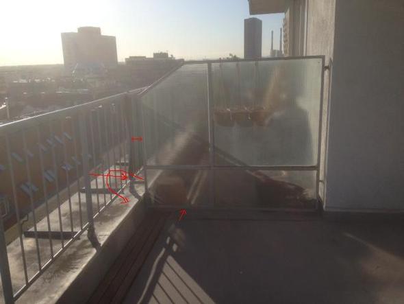 Terrassen trennwand schliessen abtrennung balkon - Terrassen abtrennung ...