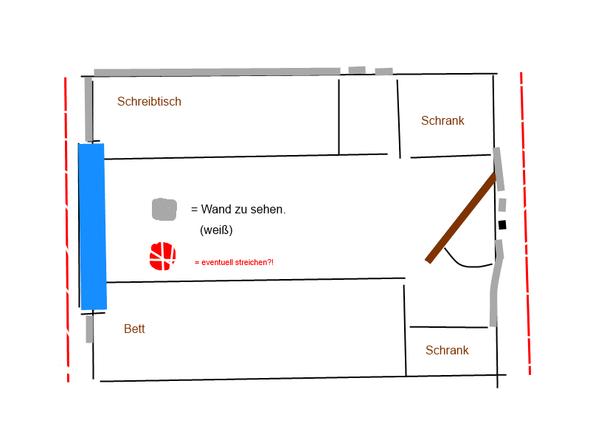 w nde rot streichen erfahrungen oder gr n. Black Bedroom Furniture Sets. Home Design Ideas