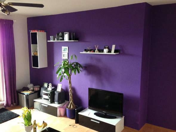 Wandgestaltung Wohnzimmer: Wandmuster Ideen geometrische ...