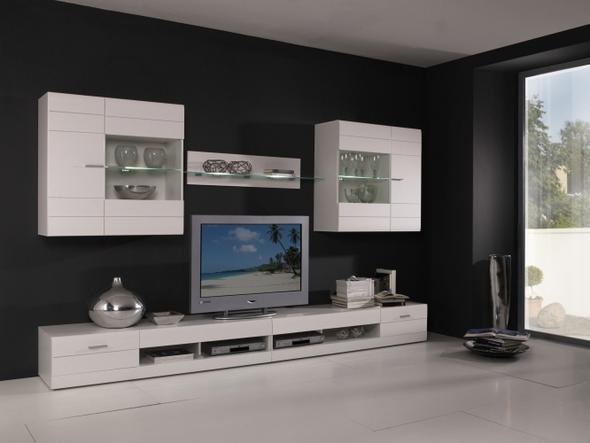 welche tapete hinter weisser wohnwand kreative ideen f r ihr zuhause design. Black Bedroom Furniture Sets. Home Design Ideas