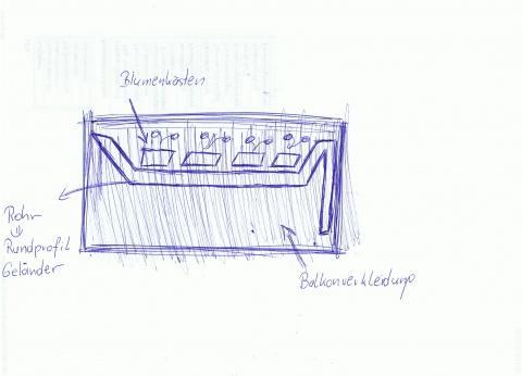 wie bef stige ich blumenk sten auf oder neben einem gel nder rundprofil balkon befestigung. Black Bedroom Furniture Sets. Home Design Ideas