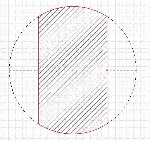 wie berechne ich diese kreis teilfl che geometrie mathematik. Black Bedroom Furniture Sets. Home Design Ideas