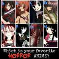 Wie heien die Horror Animes auf dem Bild?????