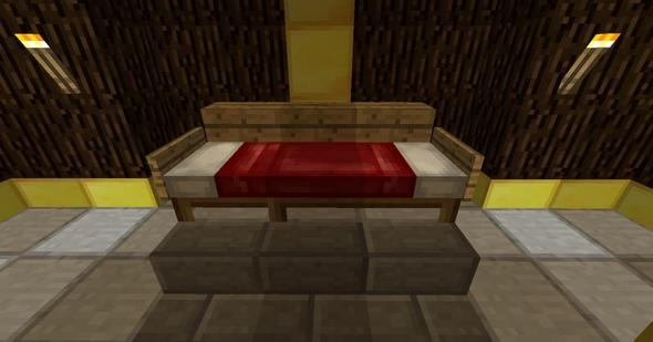 wie macht man so ein bett in kinecraft minecraft server. Black Bedroom Furniture Sets. Home Design Ideas