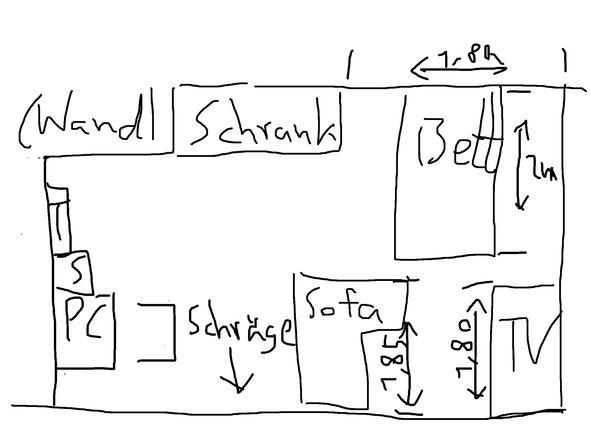 wie streiche ich mein schlafzimmer mit schrage die. Black Bedroom Furniture Sets. Home Design Ideas