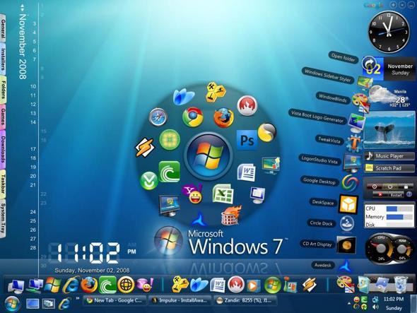 windows 7 programme wie hei en die programme siehe bild programm gadgets desktop. Black Bedroom Furniture Sets. Home Design Ideas