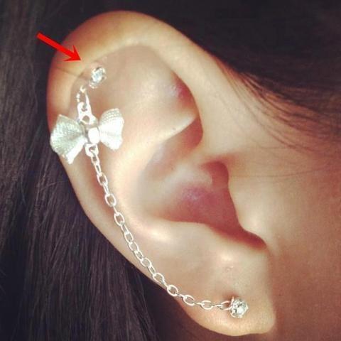 Wo kann man dieses helix piercing kaufen mit schleife