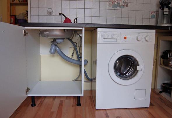 wo wie sp lmaschine in k chenzeile unterbringen k che. Black Bedroom Furniture Sets. Home Design Ideas