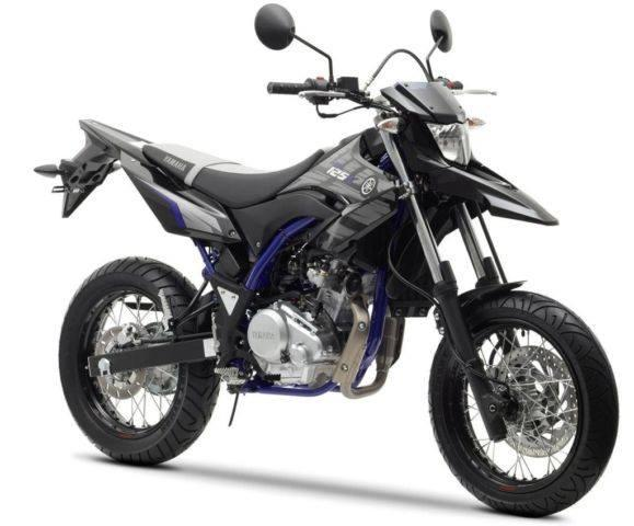 yamaha wr 125 x oder husqvarna smr 125 motorrad bike enduro. Black Bedroom Furniture Sets. Home Design Ideas