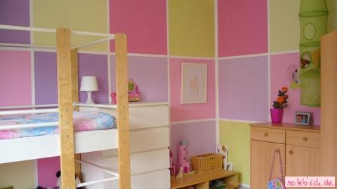 kinderzimmer streichen beispiele barn kiisel blou wandgestaltung - Kinderzimmer Streichen