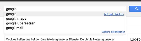 Google - Auf gut Glück - (Internet, Google)