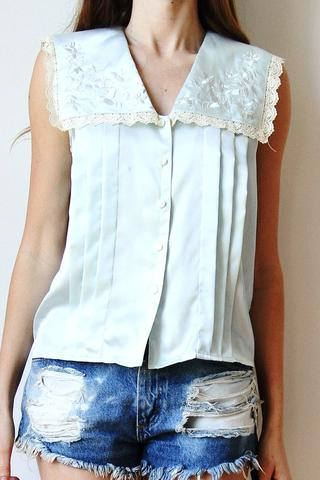 satin large collar - (Beauty, Mode, Style)