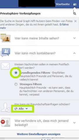 Facebook Einstellen Wer Nachrichten Schicken Kann