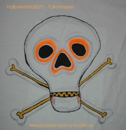 Totenkopf von www.basteln-rund-ums-jahr.de - (Kinder, Kostüm, Karneval)