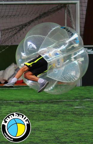 Bubble Football Bumperz in Aktion - (Fußball, Abi, mieten)